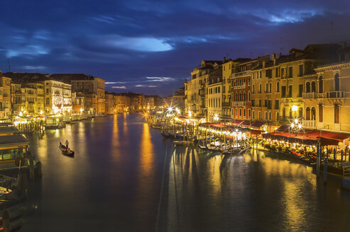 Italy, Venice, Canale Grande at night - EJWF000245