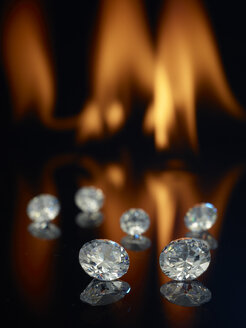 Diamonds in front of a flame - AKF000283