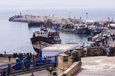 Morocco, Essaouira, Kasbah, fishing harbor - THA000100