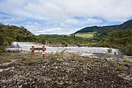 New Zealand, North Island, Bay of Plenty, Orakei Korako, warning sign - JB000040