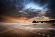 Great Britain, Scotland, East Lothian, North Berwick, Bass Rock, winter, storm - SMAF000184