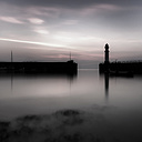 Great Britain, Scotland, Edinburgh, Lighthouse, Granton Harbour in the evening - SMAF000187