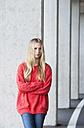 Portrait of unhappy teenage girl - WWF003214
