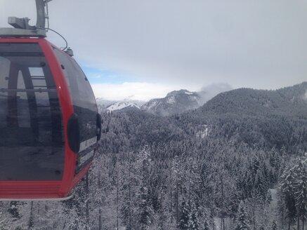 Gondola lift of Winklmoosalm and alps, Reit im Winkl, Bavaria, Germany - MEA000188