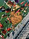 Love locks on bridge in Salzburg, Austria - MEAF000200