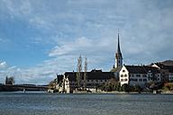 Switzerland, Stein am Rhein, old town at Rhine river - ELF000872