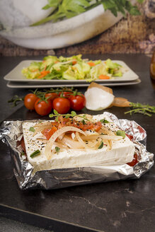 Preparation of low carb dish baked Feta cheese - CSTF000013