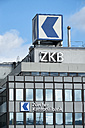 Switzerland, Canton Zurich, Zurich, facade of office building with logo of Zurich Cantonal Bank - EL000886