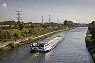 Germany, North Rhine-Westphalia, Oberhausen, Rhine-Herne Canal, freight ship - WI000411