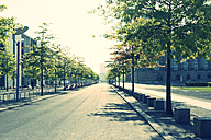 Germany, Berlin, empty street near Reichstag - PAF000430