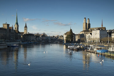 Switzerland, Zurich, view to Limmat River and Limmatquai - ELF000893