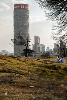 South Africa, Johannesburg, Hilbrow with Ponte Tower - TK000281