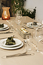 Festive laid table with individual table decoration - ONF000400