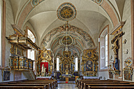 Germany, Sachrang, Interior of St. Micheal's parish church - SIE005114