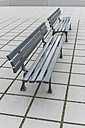 Two benches side by side in pedestrian area - HLF000412