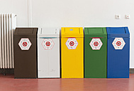 Five recycling bins at Technical university - HL000415