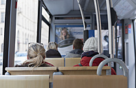 Germany, Bavaria, Munich, passenger at tram - HL000418