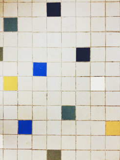 Grey and colorful floor tiles, Hamburg, Germany - SEF000590