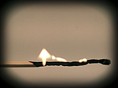 burning matchstick, Germany, North Rhine-Westphalia, Minden - HOHF000531