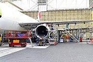Airplane construction in a hangar - SCH000049