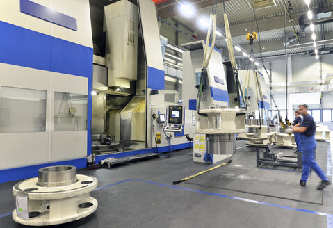 Germany, Production of wind tubines, components in process - SCH000121