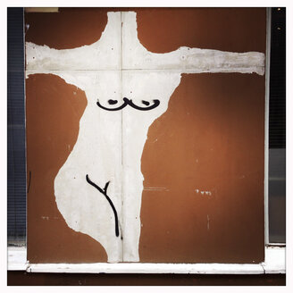 nude art on wall, Munich, Bavaria, Germany - GSF000766