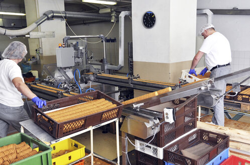 Germany, Food Industry, Cookie production in industrial bakery - SCH000090