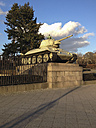 Russian tank with soldier statue, Russian memorial, Street of June 17, Berlin, Germany - FBF000267
