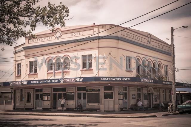 Australia, Stockton, view to Boatrowers Hotel - FB000282