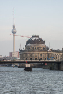 Germany, Berlin, Spree river, view to television tower and Bode Museum - FBF000286
