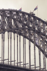 Australia, Sydney, people climbing up Harbour bridge - FBF000288