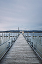 Germany, Baden-Wuerttemberg, Lake Constance, Iznang, Jetty - ELF000901