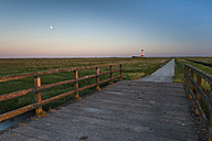 Germany, Schleswig-Holstein, North Sea Coast, View of Westerheversand Lighthouse - RJF000017