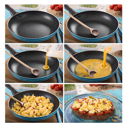 Collage of preparation of scrambled eggs - CSTF000162