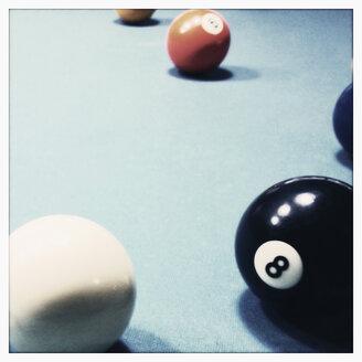Poolbilliard, number 8, billiard ball, Hamburg, Germany - SEF000626