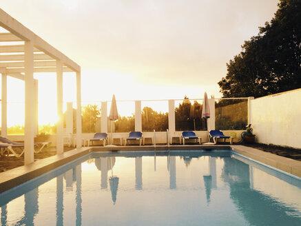 Spain, Canary Islands, La Palma, Hotel pool - MS003450