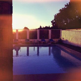 Spain, Canary Islands, La Palma, Hotel pool - MS003444