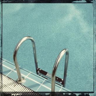 Spain, Canary Islands, La Palma, Hotel pool - MSF003438