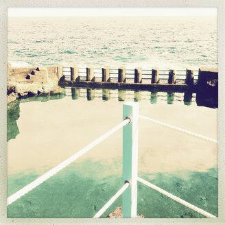 Spain, Canary Islands, La Palma, Hotel pool - MSF003434