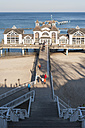 Germany, Mecklenburg-Western Pomerania, Ruegen, sea bridge at Baltic seaside resort Sellin - MJ000888