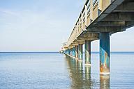 Germany, Mecklenburg-Western Pomerania, Ruegen, Binz, view to sea bridge - MJF000901