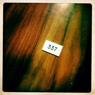 Door number of a hotel room - DHL000353