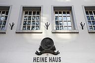 Germany, North Rhine-Westphalia, Duesseldorf, Heine Haus, birth house of German Poet Heinrich Heine, relief - WIF000473