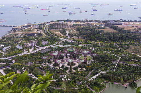 Asia, Singapore, Marina Bay, Gardens by the Bay, Supertrees - THAF000156