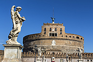 Italy, Rome, Castel Sant'Angelo with Ponte Sant'Angelo - EJWF000359