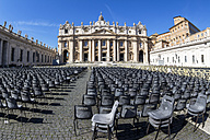 Italy, Rome, St. Peter's Basilica, Preparation for an audience of the Pope - EJW000365