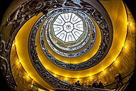 Italy, Rome, Vatican, Vatican Museum, Spiral staircase of Giuseppe Momo - EJW000370