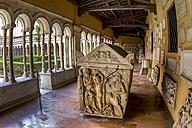 Italy, Rome, Basilica San Paolo fuori le Mura, Cloister of the monastery - EJW000375