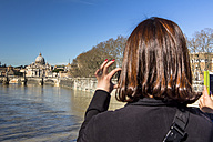Italy, Rome, St. Peter's Basilica seen from Ponte Sant'Angelo - EJW000379