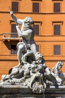 Italy, Rome, Piazza Navona, Neptune fountain - EJWF000386